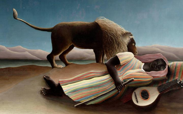 Henri Rousseau, The Sleeping Gypsy (1897). Oil on canvas, Museum of Modern Art, New York