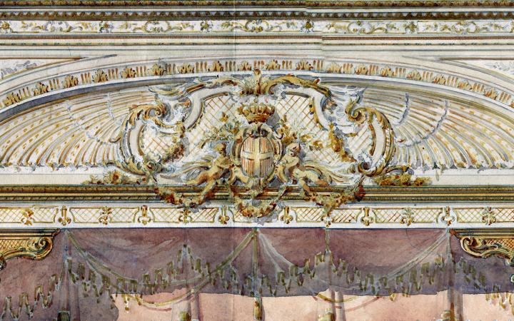 Sketch for the proscenium of the Teatro Regio by Giorgio Ceragioli