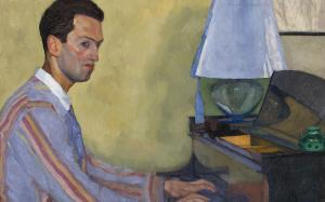 William Auerbach-Levy (1889-1964), George Gershwin at piano. Olio su tela, 1926