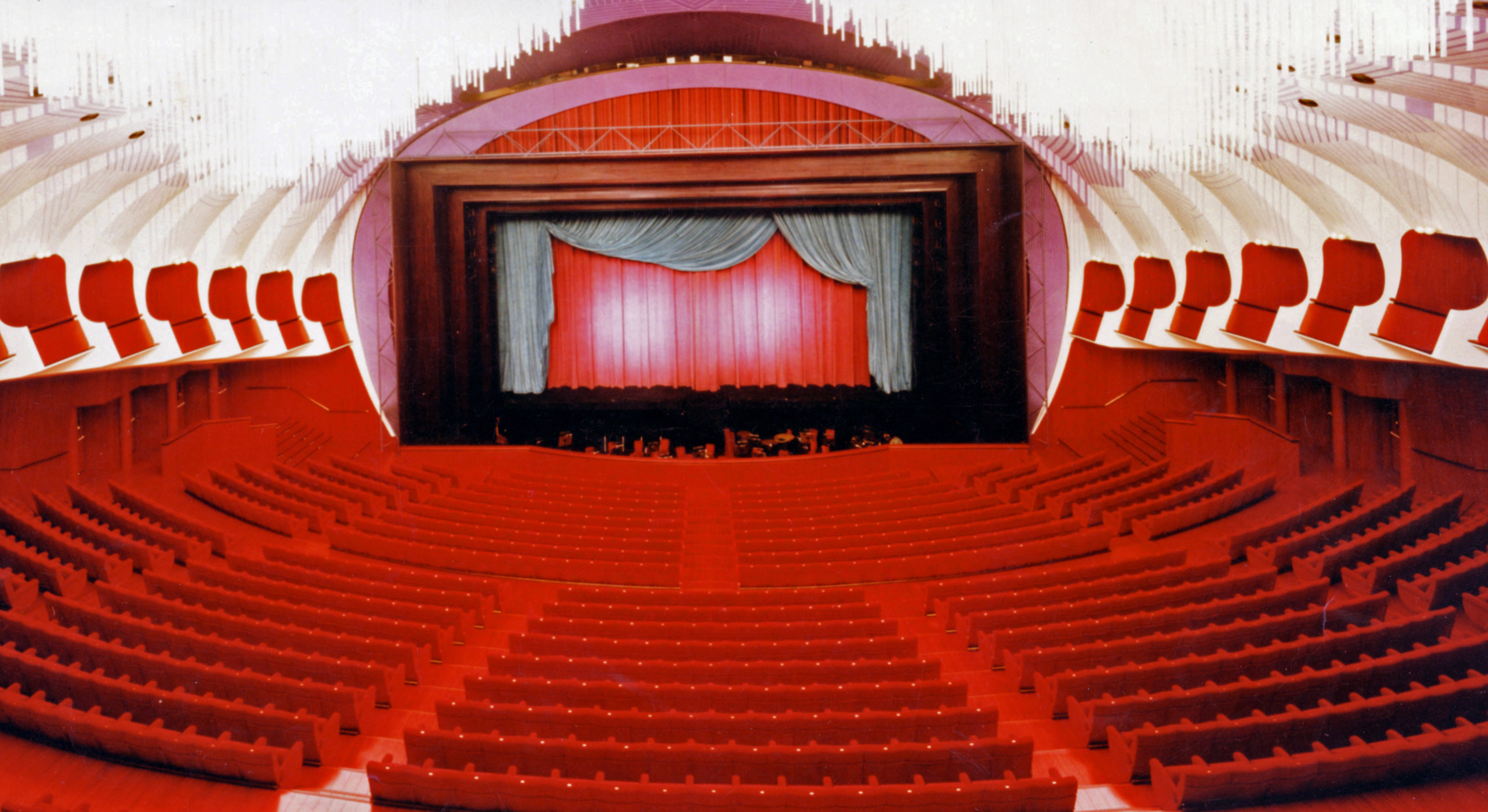 The proscenium of the Teatro Regio after the acoustical restoration of 1996