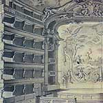 Bendetto Alfieri, Preparatory design for plate XI (Transversal cut-away perspective with view of the proscenium)