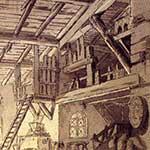 FabrizioSevesi, Camera del molinaro, bozzetto per il ballo Il Pescatore e il molinaro di Andrea Giannini, stagione 1807-08