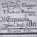 Cover of the libretto of the Twilight of the Gods – The Ring of the Nibelung by Richard Wagner