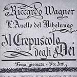 Copertina del libretto del Crepuscolo degli Dei - L'Anello del Nibelungo di Richard Wagner