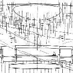 Schizzo della sala del Regio realizzato da Carlo Mollino