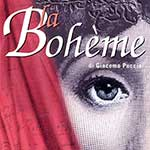 Cover of the playbill for the centennial of La Bohème