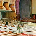 The hall of the Teatro Regio during the acoustic restoration